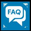 speech bubbles that say FAQ
